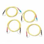 Комплект одномодовых тестовых эталонных кабелей Fluke Networks SRC-9-SCFC-KIT (2 м) для тестирования оптоволоконных кабелей FC (2 SC/FC, 2 FC/FC)