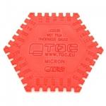 Пластиковая гребенка для определения толщины мокрого слоя TQC LD2020
