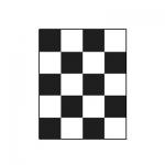 Шахматная доска для определения укрывистости 180х225 мм